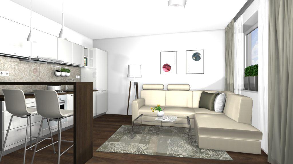 Návrh interiéru kuchyne