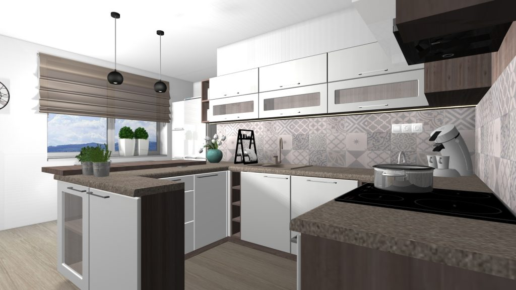 Návrh interiéru kuchyne a jedálne