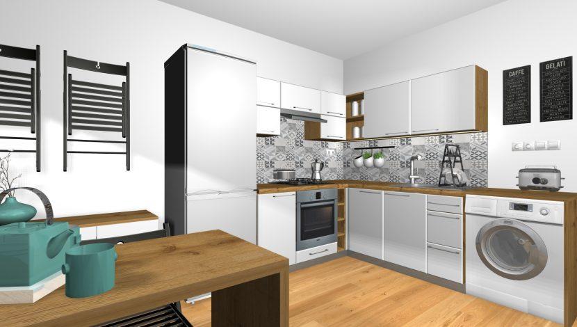 Návrh interiéru kuchyne v byte v BB